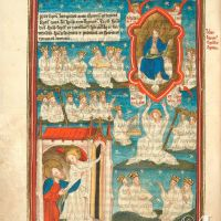 f. 5v · The vision of God enthroned in heaven (Ap. 4, 2-5)