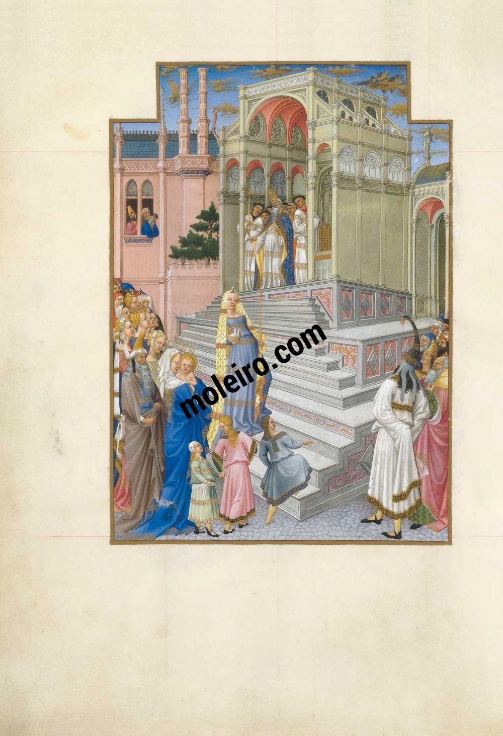 Las Muy Ricas Horas del duque Jean de Berry f. 54v, La Purificación