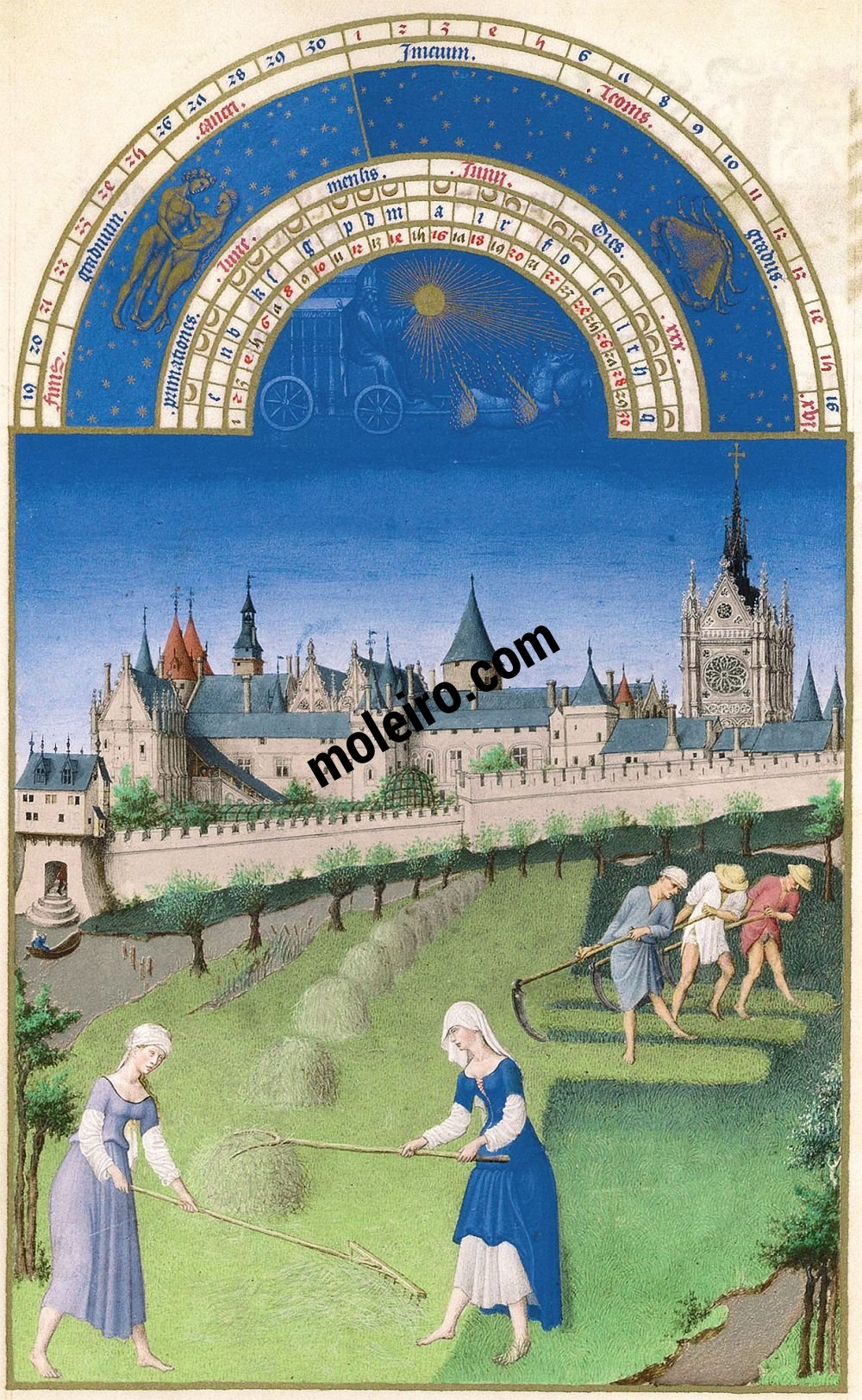 The Très Riches Heures du Duc de Berry Fol. 6v - June