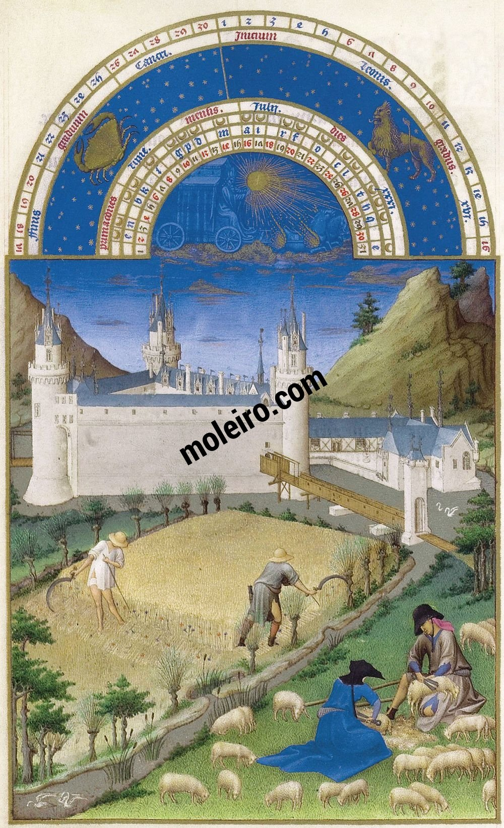 The Très Riches Heures du Duc de Berry Fol. 7v - July