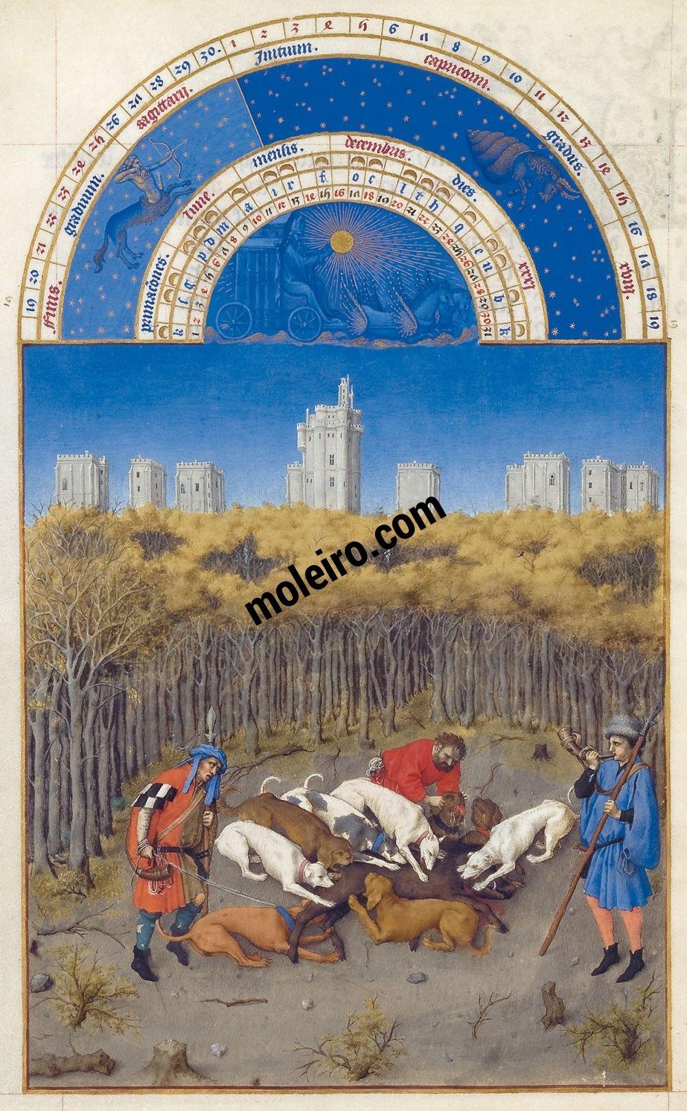 The Très Riches Heures du Duc de Berry Fol. 12v - December