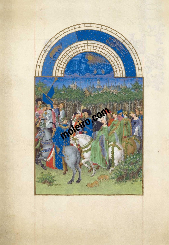 Las Muy Ricas Horas del duque Jean de Berry f. 5v, Mayo