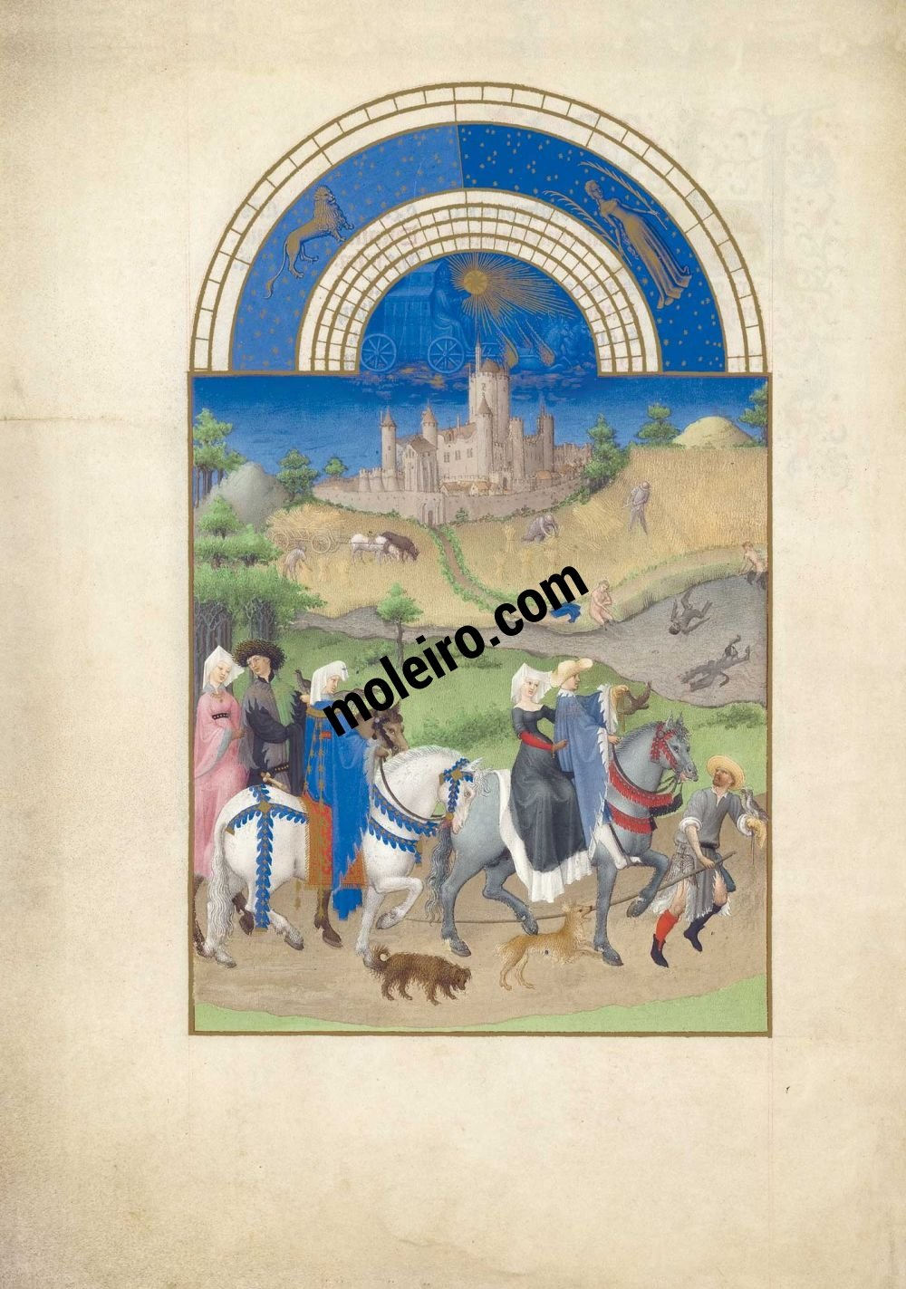 The Très Riches Heures du Duc de Berry Fol. 8v - August