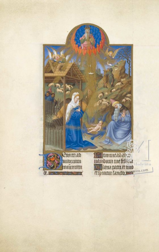 The Très Riches Heures du Duc de Berry Fol. 44v - The Nativity