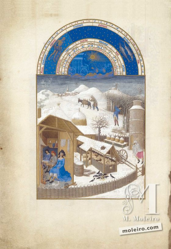 The Très Riches Heures du Duc de Berry f. 2v - February