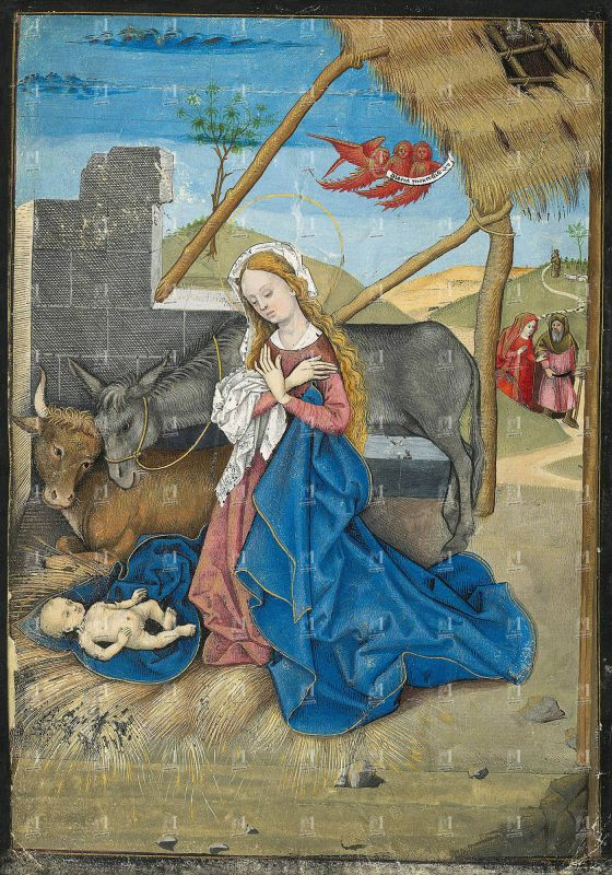 The Hours of Charles of Angoulême, Nativity (f. 18v)