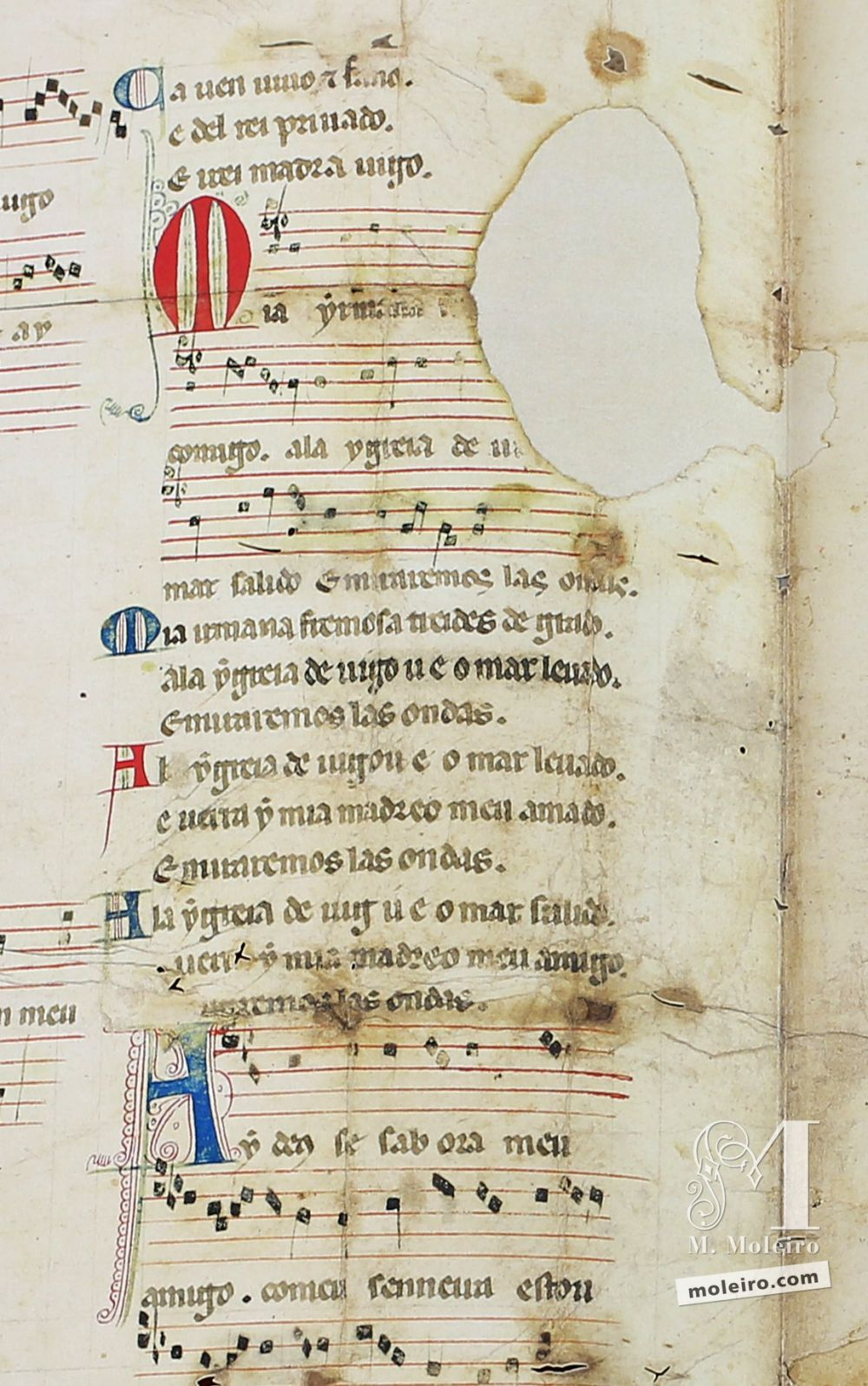 Cantiga 3 della Pergamena Vindel di Martin Codax - The Morgan Library & Museum, New York